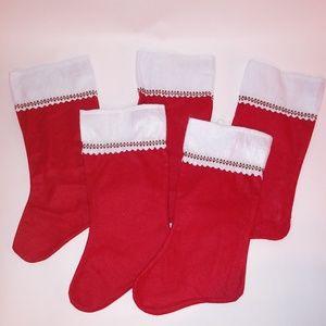 Set of 5 Christmas Stockings